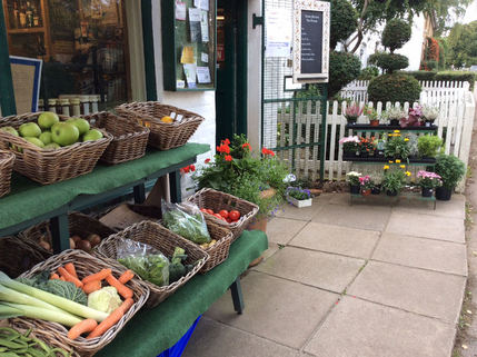 Fruit and vegetables outside the shop