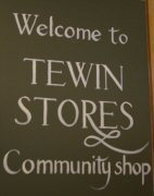 Tewin stores sign