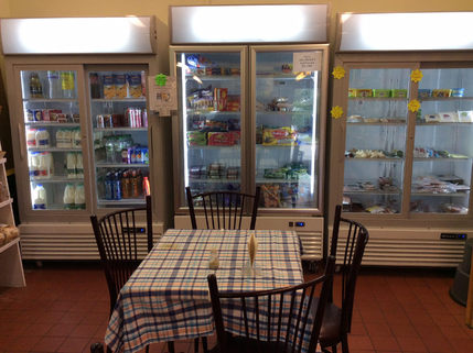 Cafe in the shop