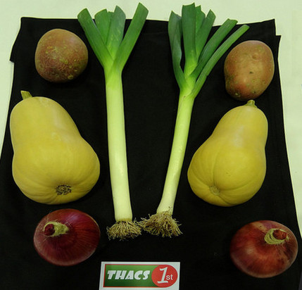 Winning vegetables at THACS Autumn show 2018